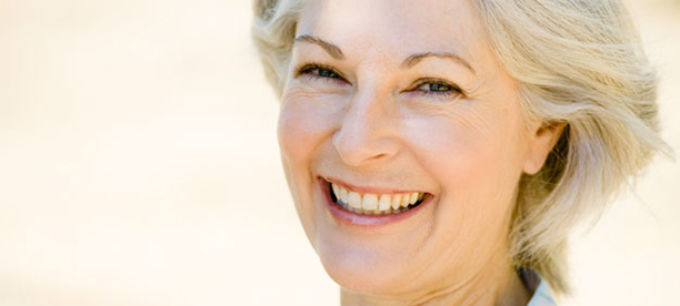 Older happy woman, dealing with symptoms of menopause